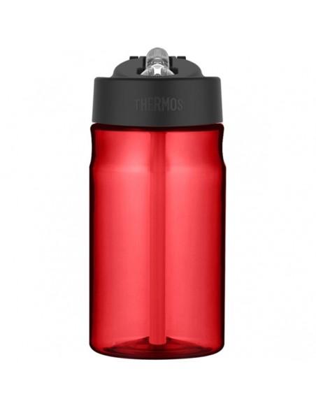 Dziecięca butelka nawadniająca ze słomką - czerwona